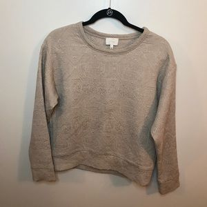 Wilfred by Aritzia Beige Embossed Pullover